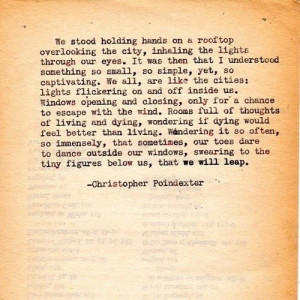 ... Poindexter quotes | by | christopher poindexter | quotes by ruby
