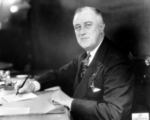 FRANKLIN ROOSEVELT - photo by AP