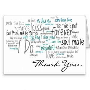 Wedding Phrases Thank You Cards