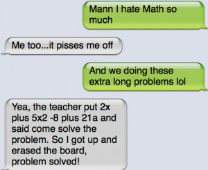 ... : Funny Pictures // Tags: Funny text - I hate math // April, 2013