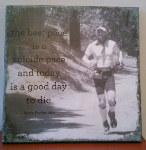 Steve Prefontaine quote print mounted on canvas 12x12 by beekz7, $25 ...