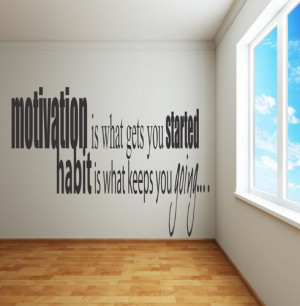 Adhesive Wall Decals - Motivation is what gets you going ...