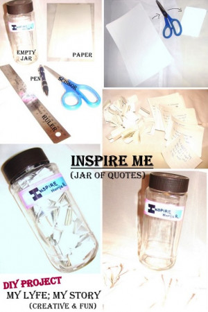 DIY: Inspire Me (Jar of Quotes)