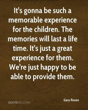 It's gonna be such a memorable experience for the children. The ...