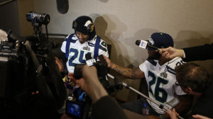 Marshawn Lynch Seattle Seahawks Super Bowl XLVIII Media Availability