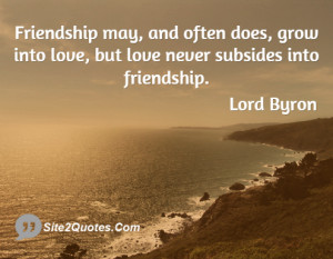 The essence of true friendship is to make allowance for another's ...