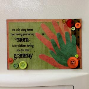 Handprint Keepsake for Grandma with cute saying
