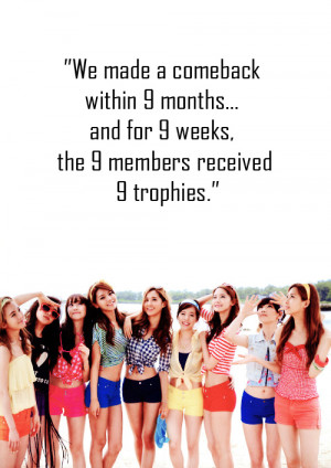 Girls Generation/SNSD SNSD Quotes