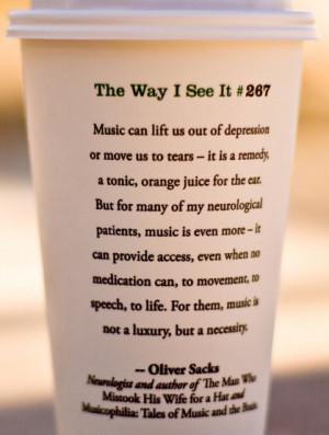 Music is a #necessity -Oliver Sachs