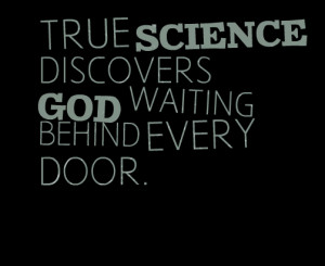 God and Science Quote
