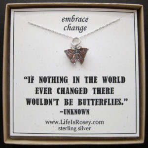 ... Butterfly Jewelry - Going Away Present - Divorce Gift - New Job Gift