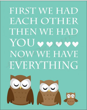 Aqua Owl Nursery Quote Print 8x10 by LJBrodock on Etsy, $8.00