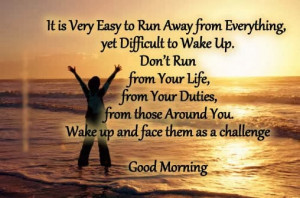 good morning face challenges with smile
