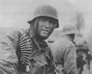 German soldier poses for the camera.