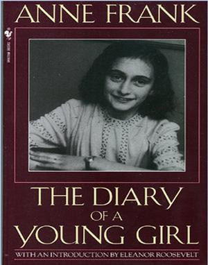 This is a replica of the original cover of Anne's diary.