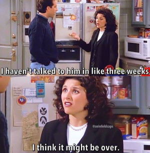 Seinfeld quote - Elaine talking about David Puddy, 'The Strongbox'