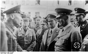 Krebs, Frick, and Stuckart in Sudetenland, Czechoslovakia, 23 Sep 1938