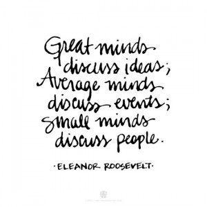 Quiet Life: This quote by Eleanor Roosevelt…