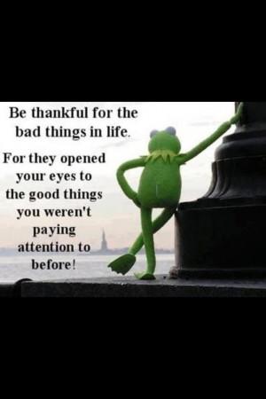 Kermit frog- bad things