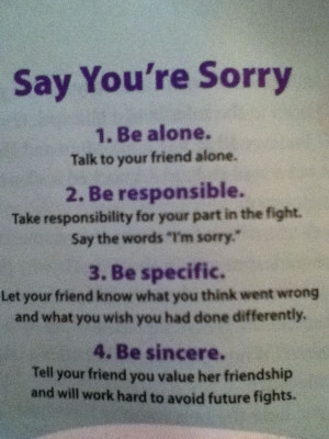 Say you're sorry-
