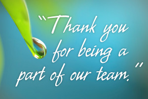 Thank you for being a part of our team.