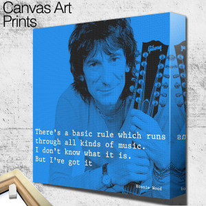 rolling stones ronnie wood quote square wall art
