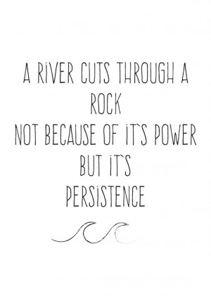 river... Inspirational quote Poster A1 & A0