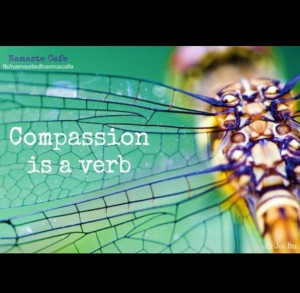 "Compassion is a verb."" Thich Nhat Hanh"