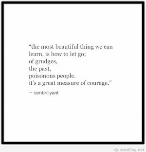 We must learn how to let go quote   Pintast