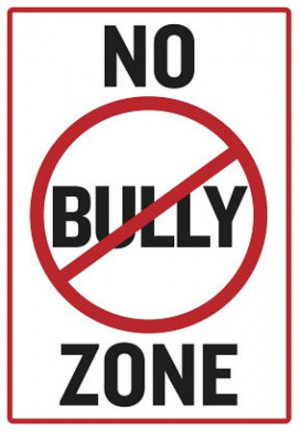 No Bully Zone Classroom Poster