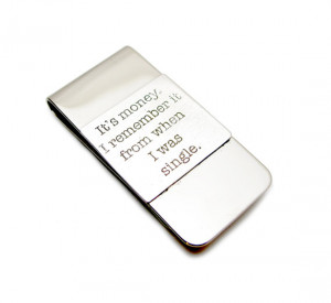 ... Gift - Dad Quote - Engraved Text Money Clip - Custom Engraving