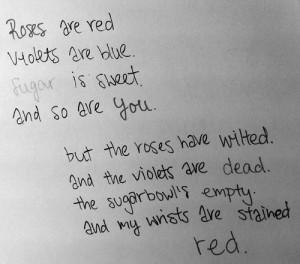 me depressed sad cut cutting poetry poem