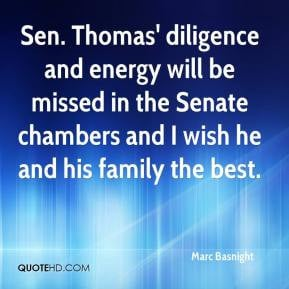 Marc Basnight - Sen. Thomas' diligence and energy will be missed in ...