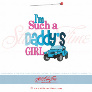 5868 Sayings : I'm Such A Daddy's Girl Jeep 5x7