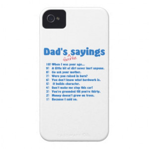 Dad's favorite sayings iPhone 4 Case-Mate case