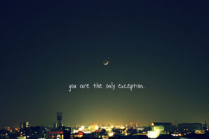 city, exception, moon, paramore, quote
