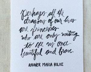 Rainer Maria Rilke Wise Words Quota tion Card (blank inside) ...