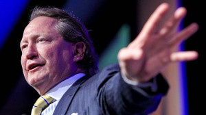 On track: Fortescue Metals CEO Andrew Forrest. Photo: Glenn Hunt