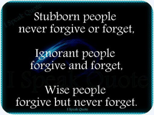 Stubborn people