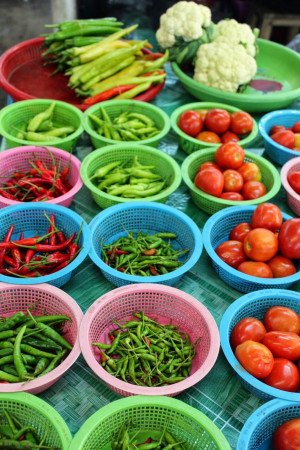 Fresh Vegetables in the Market.