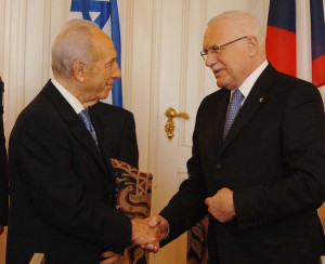 ... of the State of Israel Shimon Peres and Czech President Vaclav Klaus