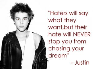 Haters Quote' Justin Bieber by dark-baudelaire