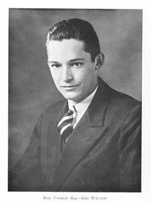 Walton, as he appears in David H. Hickman High School 's yearbook