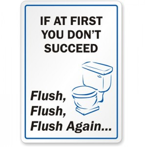 flush the toilet, quotes about not flushing the toilet