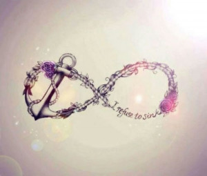 Anchor Quote Wallpaper anchor cute girly infinity