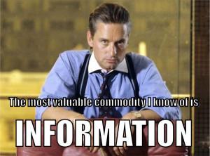 ... , wall street, gordon gekko, information is power, gordon gekko quote