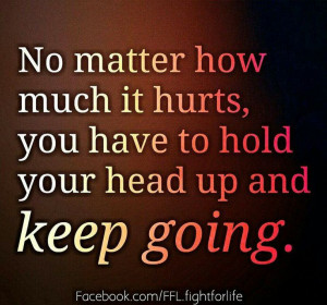 ... and nobody cheering for you to get up and keep going. Keep fighting