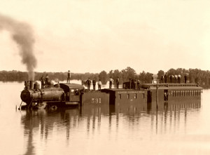 Missouri-Kansas-Texas train under several feet of water,1904.