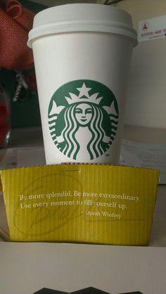 Thank you Starbucks and Oprah! :)