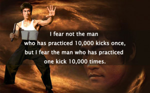 Bruce Lee Quotes Fear